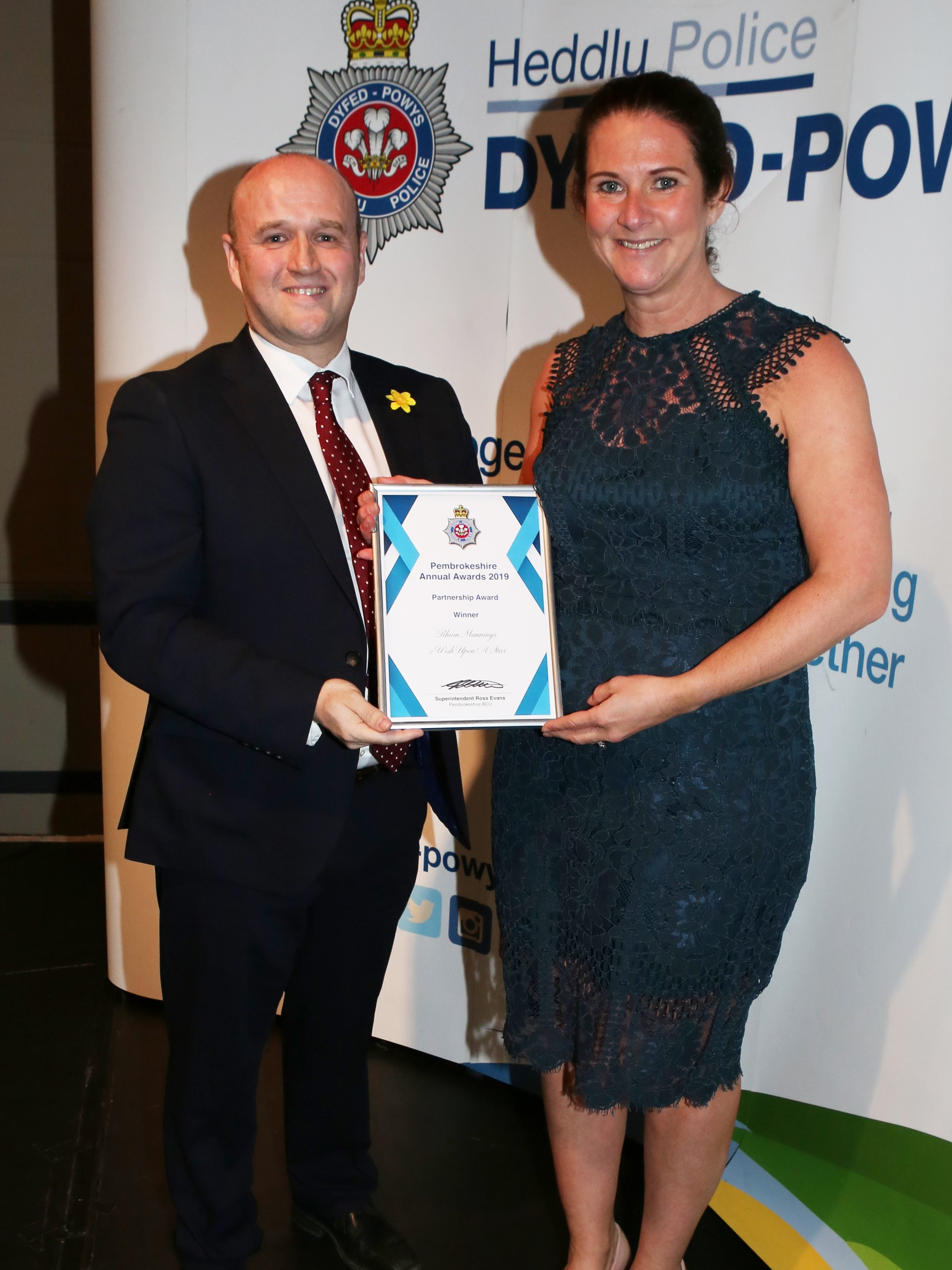 Police and Crime Commissioner Dafydd Llywelyn and Mrs Rhian Manning